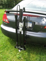 Swagman XC2 2 Bike Hitch-<br>Mount Carrier in folded position on Honda.