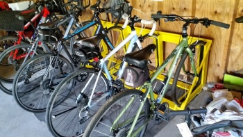 Bikes Happily In Their Slots