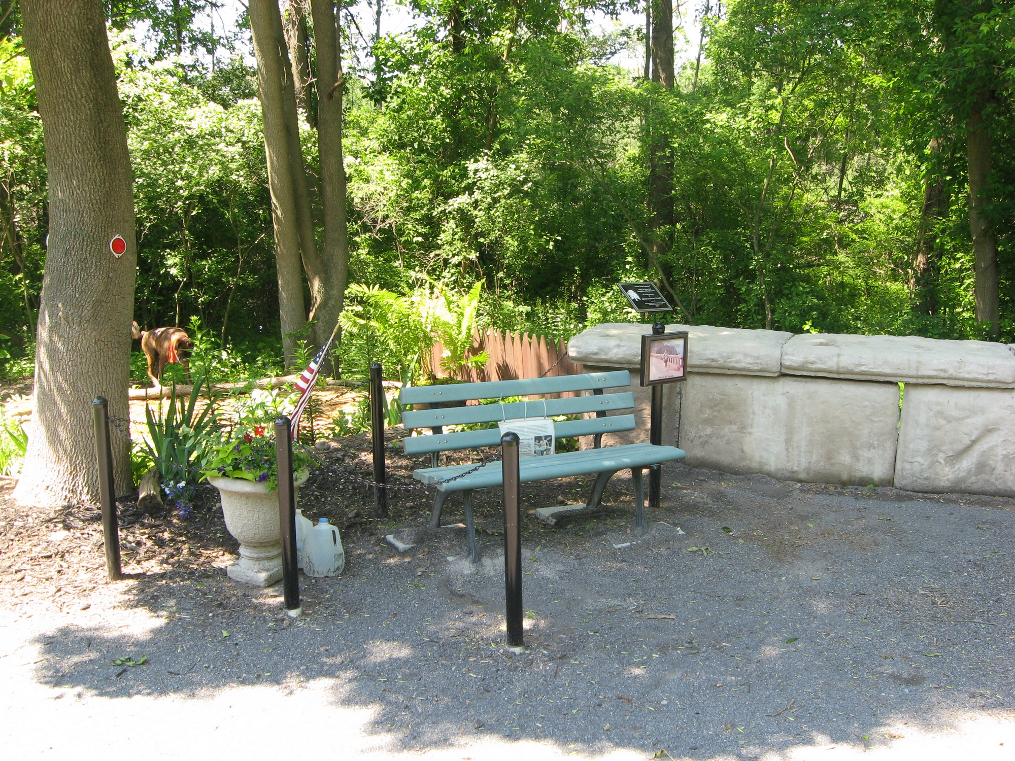 A memorial to a runner, along the Erie Canal Park Trail system