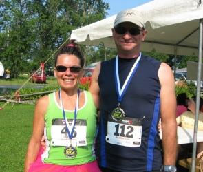 Winner 10K Run and third place bike race
