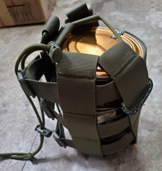 Bottle carrier used to carry stove