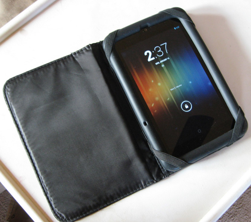 My Nexus 7 in it's Gel Case (and folio case)