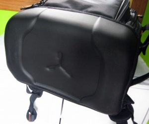 Close-up of the waterproof bottom of the bag