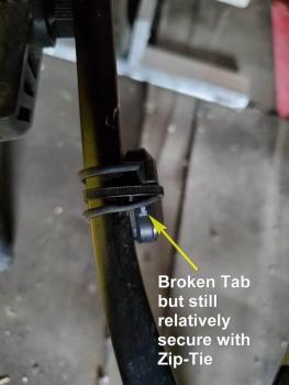Broken tab