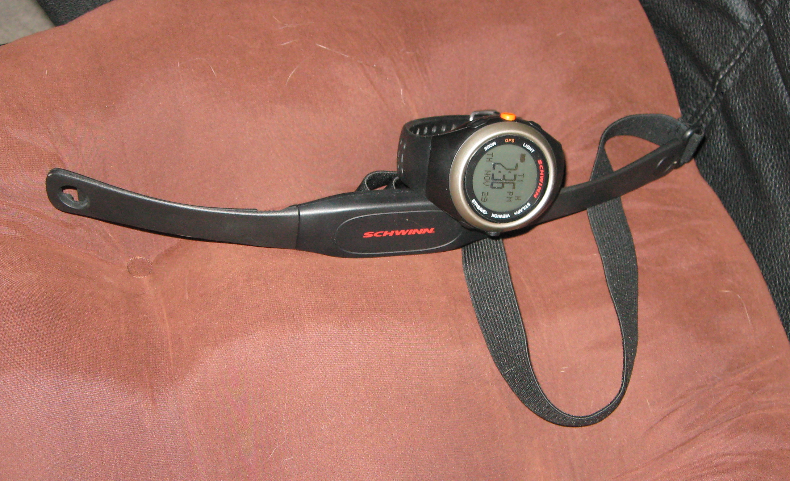 Garmin GPS Watch and Heart Rate Monitor Strap