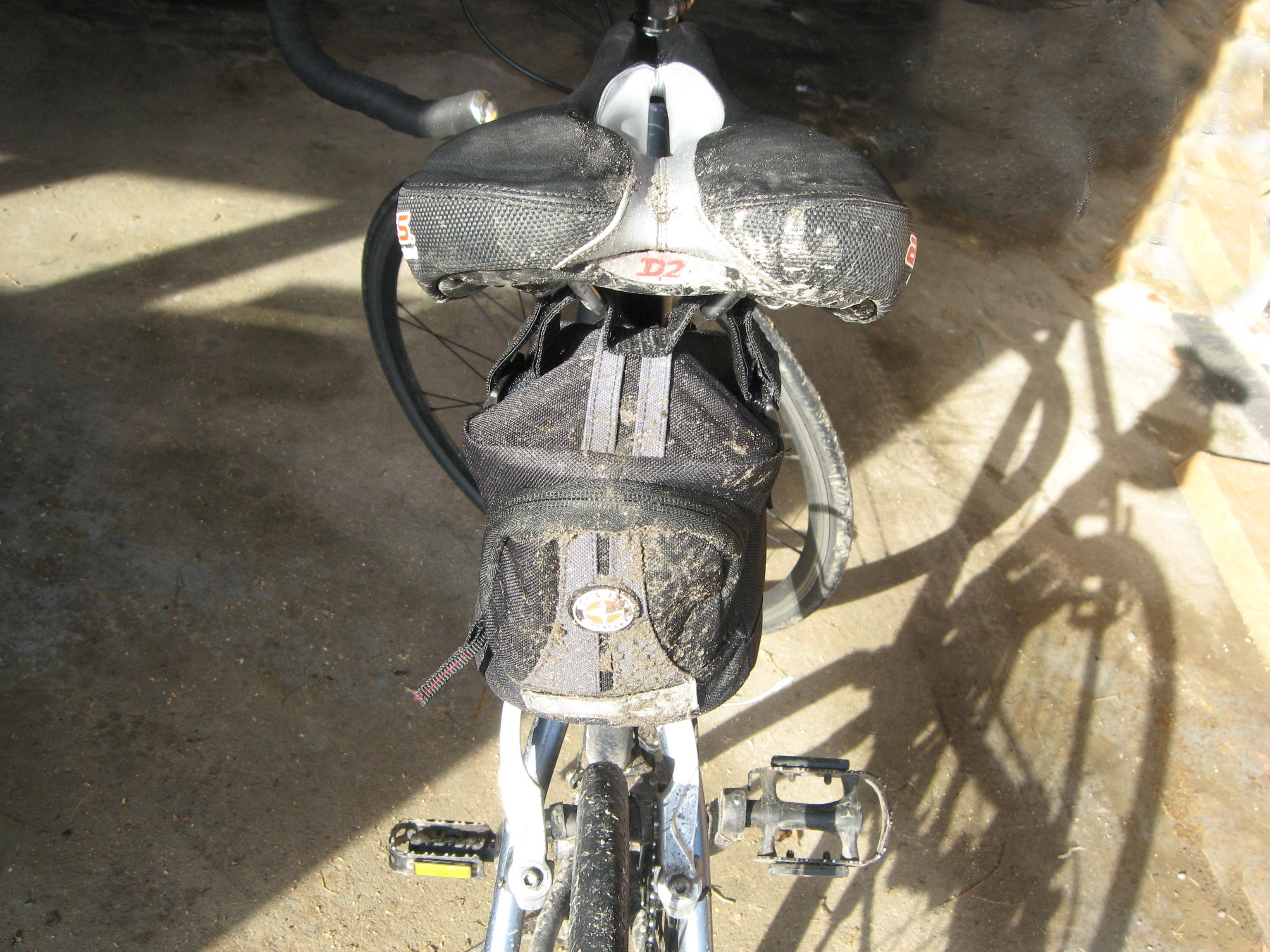 A very muddy road bike