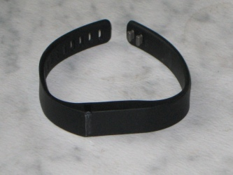 The Fitbit Flex in the large band