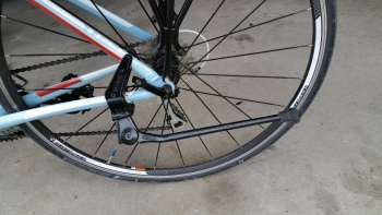 Greenfield SKS2-305B 'Stabilizer' Stay-Mount Bicycle Kickstand mounted on the Trek