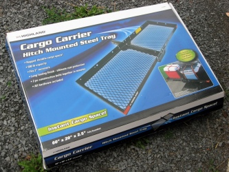 Highland Hitch-Mounted Cargo Carrier/Tray Box