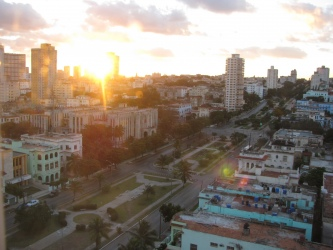 Looking over Havana from our room at the Presidente Hotel