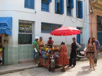 Typical street vendor in Havana