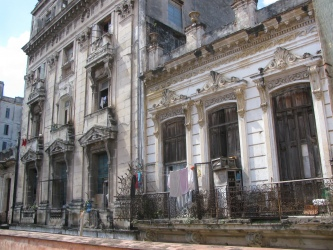 Typical apartment housing in Havana