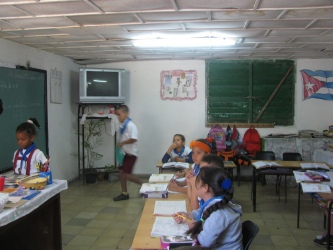 Typical rural schoolroom