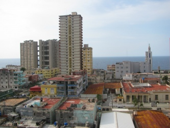 Havana - new and old, overlooking the Atlantic Ocean.