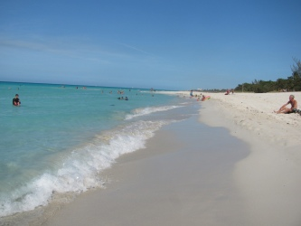 A Cuban (Caribbean) white sand beach.