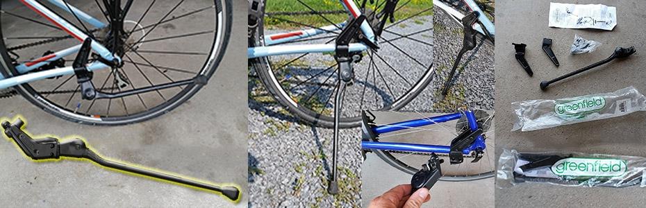 Rear Mounted Bicycle kickstand Greenfield Black