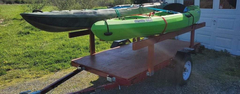 Harbor Freight Haul Master 4×8 Heavy-Duty Trailer Review and Kayak Carrier Mods